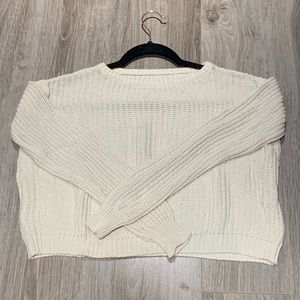 Cropped, Knit Brandy Melville Sweater